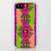 Neon Erkkat iPhone & iPod Case by Nina May