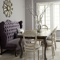 Haute House Isabella Wing Banquette, Liday Dining Table, & Swedish Side Chair
