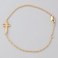 Jennifer Zeuner Jewelry Mini Integrated Cross Bracelet | SHOPBOP