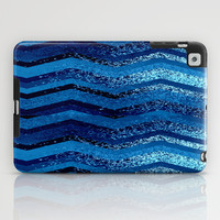 sparkly and dark blue adventure iPad Case by Marianna Tankelevich