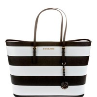 Michael Kors Two-Tone Striped Saffiano Leather Tote - 			        	Sunglasses mens