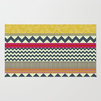 New York Beauty stripe Area & Throw Rug by Sharon Turner | Society6