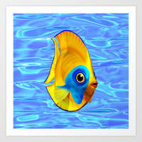 Tropical Fish on Clear Ocean Water 3D Art Print by Bluedarkat Lem