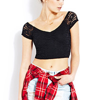 Sweet Lace Crop Top | FOREVER21 - 2000070651