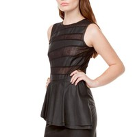 UNTAMED PEPLUM DRESS