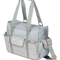 Blue Filigree Kelly Commuter Diaper Bag | something special every day