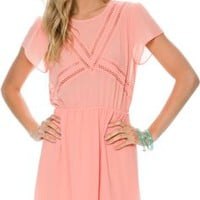 SWELL LIGHTLY CUT OUT CAP SLEEVE DRESS