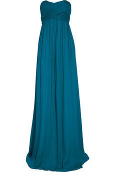 J.Crew|Arabelle strapless silk-chiffon gown|NET-A-PORTER.COM