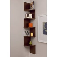 Wave Wall Mount Magazine Rack - Brown