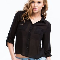 On A Roll Tab High-Low Blouse