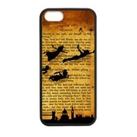 CTSLR Laser Technology Peter Pan TPU Case Cover Skin for Apple iPhone 5/5s- 1 Pack - Black - 3