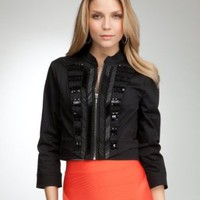 bebe Embellished Sargent Pepper Jacket
