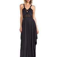 Free People Bonitas Back Maxi Dress in Black