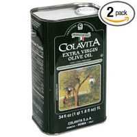 Colavita Extra Virgin Olive Oil, 34-Ounce Tins (Pack of 2)