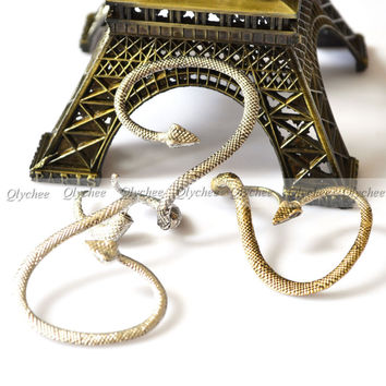 New Hot Fashion Gothic Punk Style Temptation Snake Back Ear Cuff Stud Earring