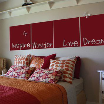 Love Wonder Inspire Dream by ChickadeeVinyl on Etsy
