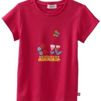 Zutano Girls 2-6X Tulips Screen Cap Sleeve Tee, Fuschia, 2T