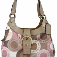 Coach Soho Snap Head Print Sateen Lynne Hobo Bag