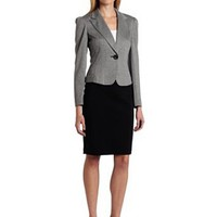 Nine West Women's Knit Unmatched Jacket And Skirt