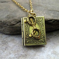 Free ShippingThe Librarian Necklace by MetalsInTime on Etsy