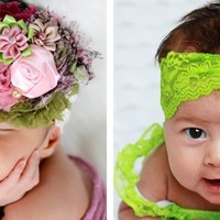 Sallyannasunshine's signature Large Shabby Headbands with lots of new choices!