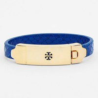 Tory Burch Logo Plate Embossed Leather Bracelet | Nordstrom