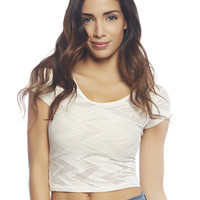 Zig Zag Crop Tee | Wet Seal