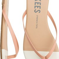 TKEES FRENCH TIPS SKINNY STRAP SANDAL