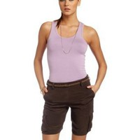HKNB Heidi Klum for New Balance Womens Washed Silk Military Short