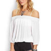 Demure Off-The-Shoulder Blouse