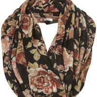 Black Floral Print Snood - Scarves - Accessories - Topshop USA