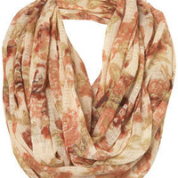 Cream Floral Print Snood - Topshop USA