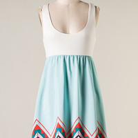 Around Town Aztec Dress - Mint - Hazel & Olive