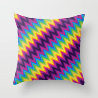 Zig Zag Chevron Pattern G36 Throw Pillow by MedusArt
