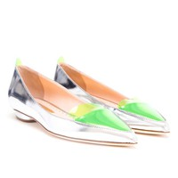 RUPERT SANDERSON | Metallic Leather Pointed Flats | Browns fashion & designer clothes & clothing