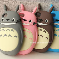 3D Cute My Neighbor Totoro Soft Silicone Case cover for Apple iphone5s 5C 5g 4S
