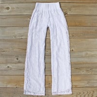 Fortunate Lace Pants in White