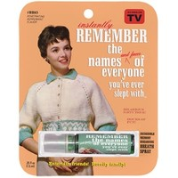 Remember the Names of Everyone You've Slept With - Breath Spray
