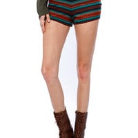 Papaya Clothing Online :: GEO PRINT COTTON SHORTS