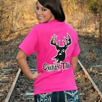 Country Thang Tee - Hot Pink