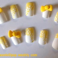 Japanese 3D Nail Art Set Polka Dot Swirl by GreenLollipopDesigns