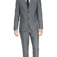 THEORY Grey Wellar Suit Jacket & Marlo U Suit Pant in Ivor