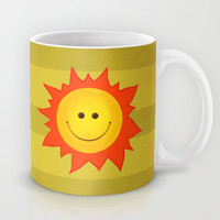 Smiling Happy Sun Mug by Boriana Giormova | Society6
