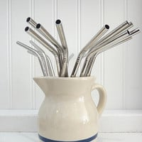 Six Stainless Steel Straws - Brook Farm General Store
