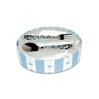 "Mud Pie Baby Prince ""Baby Boy"" Spoon and Fork"