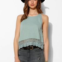 Ecote Low-Back Crochet-Trim Cami - Urban Outfitters