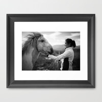 A New Friend Framed Art Print by Daniel Fornies