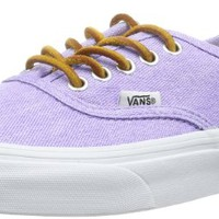 Vans Women'S Authentic Slim Washed Canvas Low Top Sneaker - Violet True White