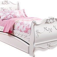 Disney Princess White 3 Pc Full Sleigh Bed