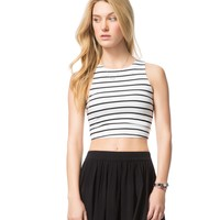 Striped Crop Bodycon Tank